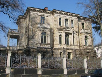 Fassadenaufmass für eine Villa nach Gottfried Semper